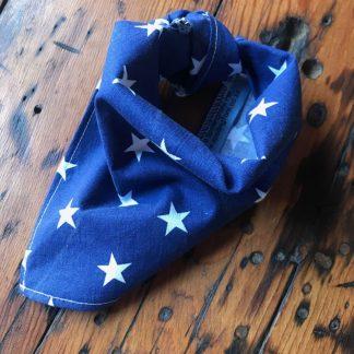 blue stars tie-on bandana