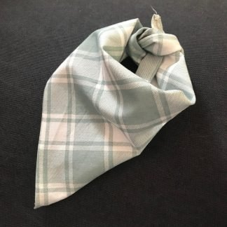 Green Tartan Tie-on Bandana