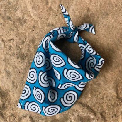 White Swirls Tie-On Bandan