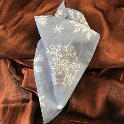 Christmas snowflake blue tie on bandana