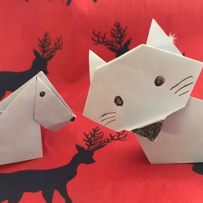 and now for my next trick origami cat and dog