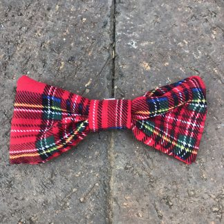 Red Tartan Bow Tie for Dogs