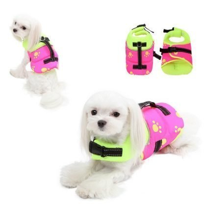 Neon Life Jacket for Dogs
