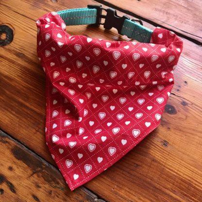 Hearts Dog Bandana