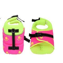 neon life jacket for dogs detail