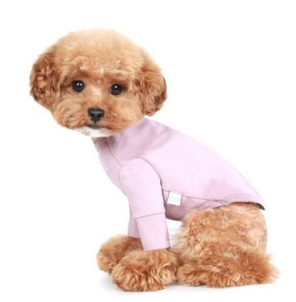 Long Sleeve T-shirt pink on dog model