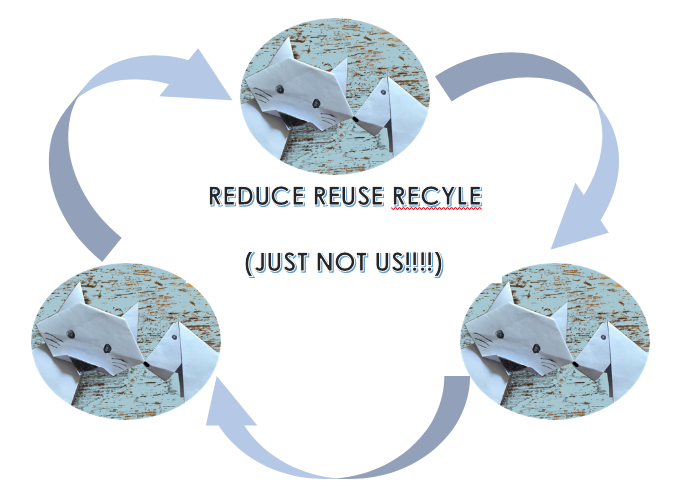 Origami Reduce Reuse Recycle