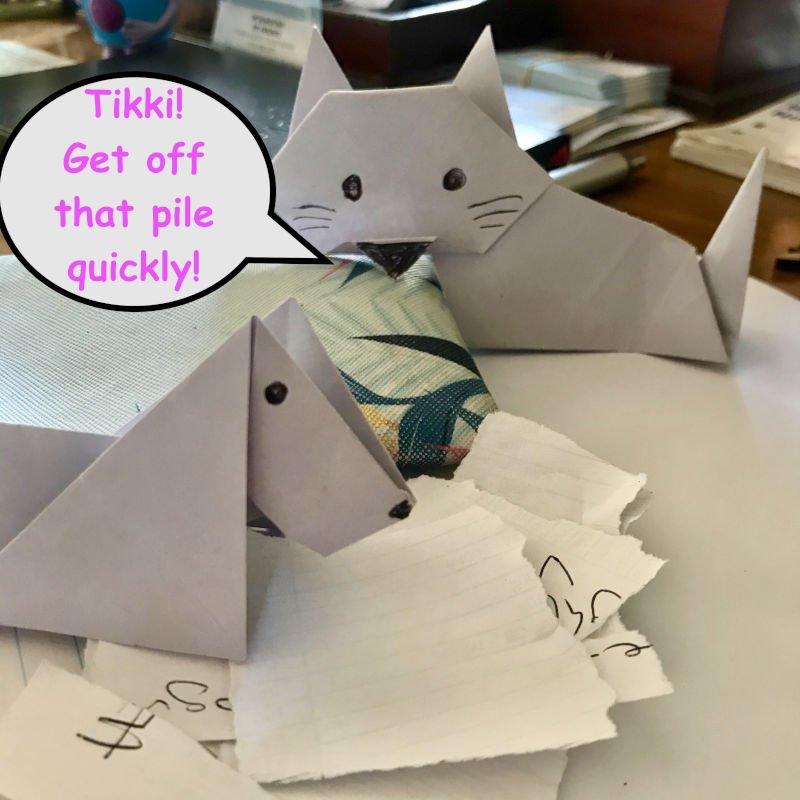 Origami Cat and Origami Dog