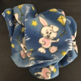 Blue Bunny Blanket for Small Pets