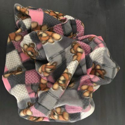 Fleece Pet Blanket with bears