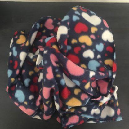 Fleece Pet Blankets with Heart Pattern