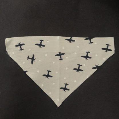 Airplane Bandana Over Collar Style