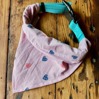 Hearts Collar Bandana for Dogs