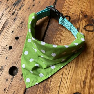 Lime Dot Collar Bandana for Dogs