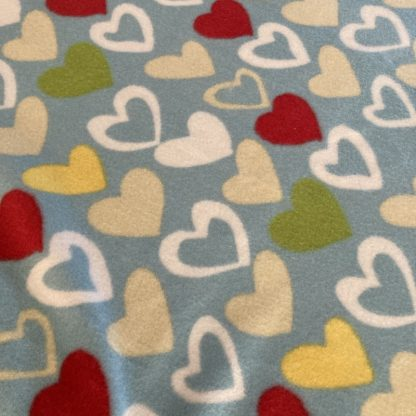 fleece blanket hearts pattern