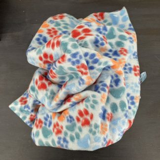pawprint pet fleece blanket