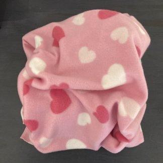 Pink Hearts Dog Blanket