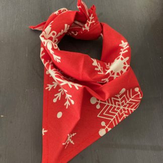 Christmas Red Tie Bandana for Dogs